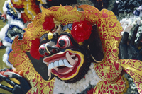Mask, funeral rites, Bali, Indonesia, Southeast Asia