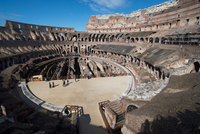 Remains of the Colosseum of Rome built around 70AD, allegedly the largest ever built, Rome, Lazio 11104005843| 写真素材・ストックフォト・画像・イラスト素材|アマナイメージズ