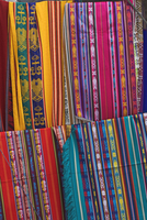 Colourful indigenous-style textiles on sale in the provincial capital, Riobamba, Chimborazo Province, Central Highlands, Ecuador 11104009839| 写真素材・ストックフォト・画像・イラスト素材|アマナイメージズ