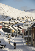 Winter in Honningsvag, most northerly town in Norway, Arctic, Norway, Scandinavia, Europe 11104030658| 写真素材・ストックフォト・画像・イラスト素材|アマナイメージズ