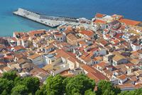 Top view of Cefalu from La Rocca, Cefalu, Sicily, Italy, Europe 11108002331| 写真素材・ストックフォト・画像・イラスト素材|アマナイメージズ