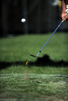 Cropped Hands Of Man Playing Golf On Course 11115015156| 写真素材・ストックフォト・画像・イラスト素材|アマナイメージズ