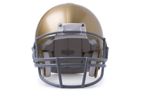 Front View Close-up Of Golden Football Helmet
