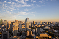 High Angle View Of Cityscape Against Sky During Sunset 11115041518| 写真素材・ストックフォト・画像・イラスト素材|アマナイメージズ