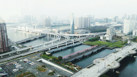 High Angle View Of Elevated Road In City 11115044781| 写真素材・ストックフォト・画像・イラスト素材|アマナイメージズ
