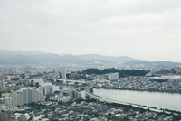 High Angle View Of Cityscape Against Sky 11115048531| 写真素材・ストックフォト・画像・イラスト素材|アマナイメージズ