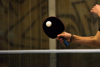 Cropped Image Of Hand Playing Table Tennis 11115060210| 写真素材・ストックフォト・画像・イラスト素材|アマナイメージズ