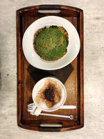 Top View Of Coffee With Breakfast On Wooden Tray 11115077878| 写真素材・ストックフォト・画像・イラスト素材|アマナイメージズ
