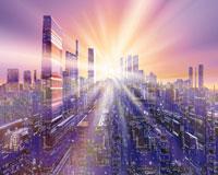 未来都市のCGイメージ 28144095349| 写真素材・ストックフォト・画像・イラスト素材|アマナイメージズ