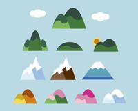 いろいろな山 60000000028| 写真素材・ストックフォト・画像・イラスト素材|アマナイメージズ