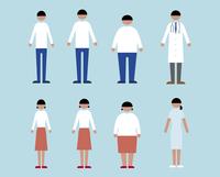 肥満・やせ形・普通体型の男女、医者と看護師 60000000218  写真素材・ストックフォト・画像・イラスト素材 アマナイメージズ