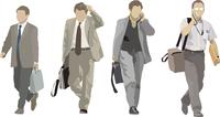 歩く男達(4人) 60006000061  写真素材・ストックフォト・画像・イラスト素材 アマナイメージズ