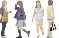 中高年女性・ヤング(4人) 60006000084  写真素材・ストックフォト・画像・イラスト素材 アマナイメージズ