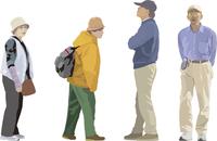 中年女性(2)男性(2) 60006000091| 写真素材・ストックフォト・画像・イラスト素材|アマナイメージズ