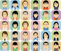 中高生の子供を持つ家族の集合イラスト 60008000286  写真素材・ストックフォト・画像・イラスト素材 アマナイメージズ