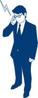 携帯で電話をするビジネスマン 60009000178  写真素材・ストックフォト・画像・イラスト素材 アマナイメージズ