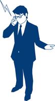 携帯で電話をするビジネスマン 60009000179  写真素材・ストックフォト・画像・イラスト素材 アマナイメージズ