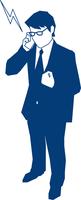 携帯で電話をするビジネスマン 60009000181  写真素材・ストックフォト・画像・イラスト素材 アマナイメージズ