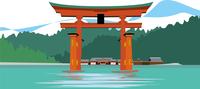 広島の厳島神社 60009000264| 写真素材・ストックフォト・画像・イラスト素材|アマナイメージズ