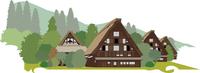 岐阜の白川郷 60009000285| 写真素材・ストックフォト・画像・イラスト素材|アマナイメージズ