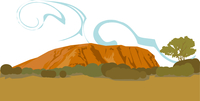 オーストラリアのエアーズロック 60009000301| 写真素材・ストックフォト・画像・イラスト素材|アマナイメージズ