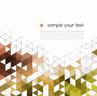Abstract technology background with color triangle shapes. Vector illustration. 60016000067| 写真素材・ストックフォト・画像・イラスト素材|アマナイメージズ