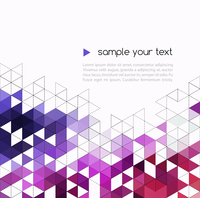 Abstract technology background with color triangle shapes. Vector illustration. 60016000068| 写真素材・ストックフォト・画像・イラスト素材|アマナイメージズ