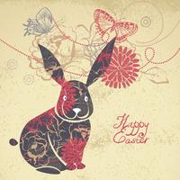Background with Easter Rabbit  60016001193| 写真素材・ストックフォト・画像・イラスト素材|アマナイメージズ