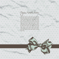 Vintage template background with crushed paper and ribbon 