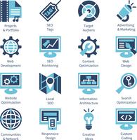 SEO and internet optimization icon set. Isolated vector illustration  60016001442  写真素材・ストックフォト・画像・イラスト素材 アマナイメージズ