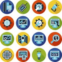 SEO and internet optimization flat icon set. Isolated vector illustration  60016001443  写真素材・ストックフォト・画像・イラスト素材 アマナイメージズ