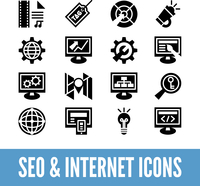 SEO and internet optimization icon set. Isolated vector illustration  60016001444  写真素材・ストックフォト・画像・イラスト素材 アマナイメージズ