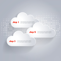 Vector Network clouds with place for text and technology background 60016001506| 写真素材・ストックフォト・画像・イラスト素材|アマナイメージズ