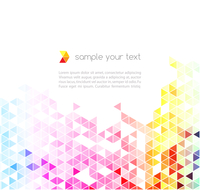 Abstract colorful triangles vector background. 60016001565| 写真素材・ストックフォト・画像・イラスト素材|アマナイメージズ
