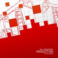 Oil pump mosaic card for your design. Vector illustration. 60016001610| 写真素材・ストックフォト・画像・イラスト素材|アマナイメージズ