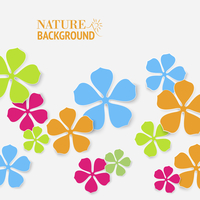 Colored flower backdrop on gray background. Vector illustration. 60016001615| 写真素材・ストックフォト・画像・イラスト素材|アマナイメージズ