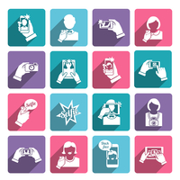 Selfie self portrait taking smartphone camera technology flat icons collection set isolated vector illustration 60016001667  写真素材・ストックフォト・画像・イラスト素材 アマナイメージズ