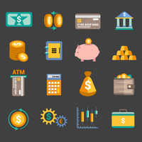 Bank service money icons set with money box storage card isolated vector illustration 60016001722| 写真素材・ストックフォト・画像・イラスト素材|アマナイメージズ