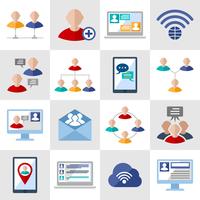 Global people communication social media network icons set isolated vector illustration 60016001736  写真素材・ストックフォト・画像・イラスト素材 アマナイメージズ