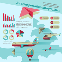 Air transport flat infographic set with airplane helicopter hot air balloon vector illustration 60016001764| 写真素材・ストックフォト・画像・イラスト素材|アマナイメージズ