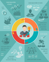 Business meeting infographic set with pie chart and businessman avatar vector illustration 60016001796| 写真素材・ストックフォト・画像・イラスト素材|アマナイメージズ
