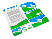 Green and blue abstract business company style stationery sample for corporate identity isolated vector illustration 60016001830| 写真素材・ストックフォト・画像・イラスト素材|アマナイメージズ