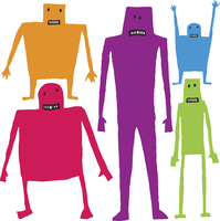Funny cartoon characters 60016001901  写真素材・ストックフォト・画像・イラスト素材 アマナイメージズ