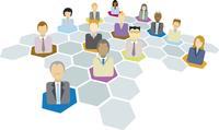 Business network of man and women 60016001908  写真素材・ストックフォト・画像・イラスト素材 アマナイメージズ