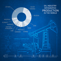 Oil industry infographic elements over texture. Vector illustration. 60016002278| 写真素材・ストックフォト・画像・イラスト素材|アマナイメージズ