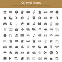 Set of icons for web design. Collection themes: business, arrows, houses, music, Books, transport 60016002764| 写真素材・ストックフォト・画像・イラスト素材|アマナイメージズ