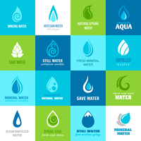 Set of water design clean nature aquadrops in blue and green color with text vector illustration 60016002944| 写真素材・ストックフォト・画像・イラスト素材|アマナイメージズ