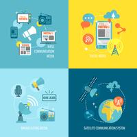 Radio newspaper live tv concept flat business icons set of mass communication social broadcasting for infographics design web el 60016002950| 写真素材・ストックフォト・画像・イラスト素材|アマナイメージズ