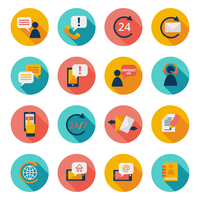 Customer care contacts flat icons set of online and offline support services isolated vector illustration 60016002959| 写真素材・ストックフォト・画像・イラスト素材|アマナイメージズ
