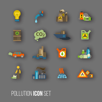 Radioactive and carbon dioxide toxic waste human activity waste air water pollution icons set isolated vector illustration 60016003154| 写真素材・ストックフォト・画像・イラスト素材|アマナイメージズ